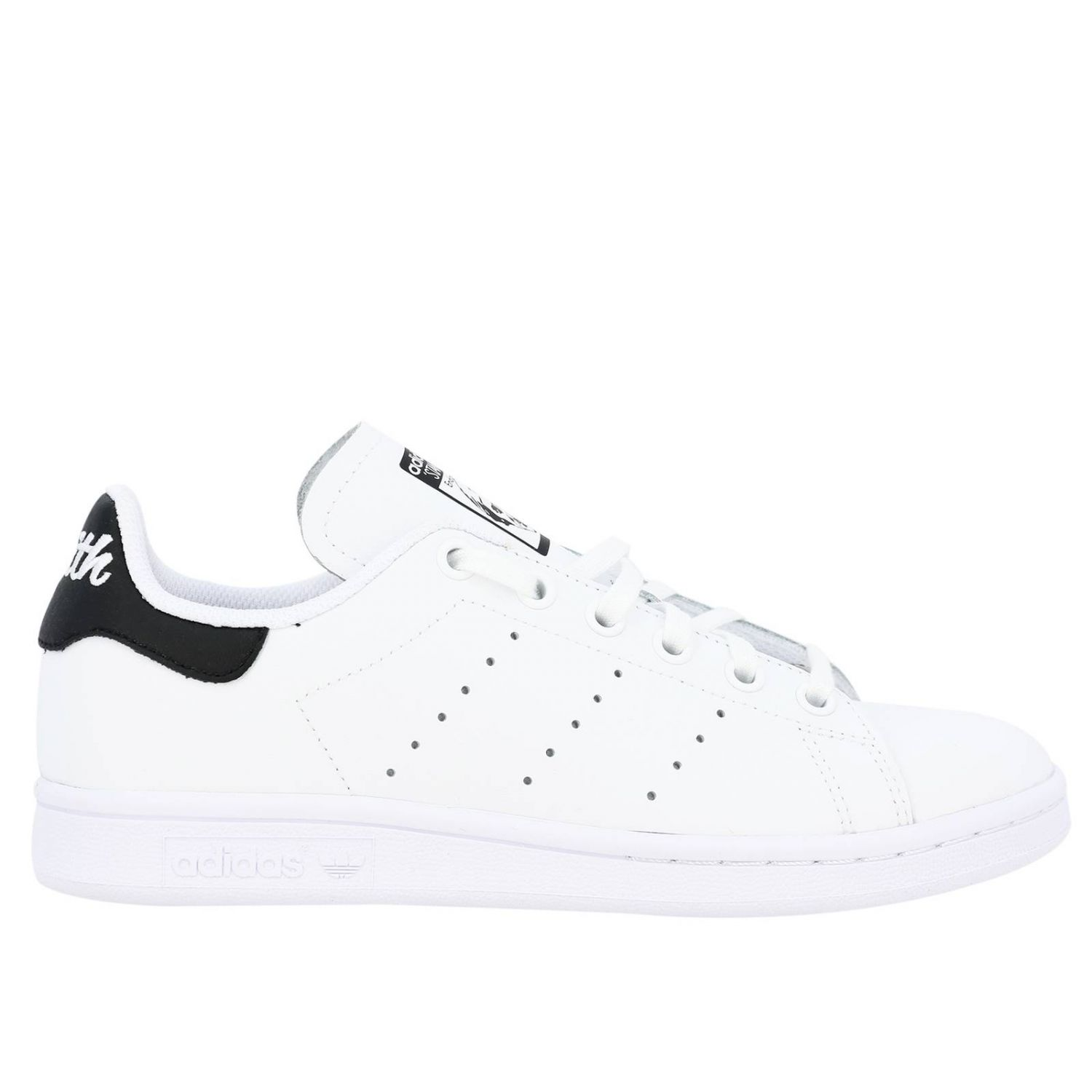 鞋履 Adidas Originals: Adidas Originals Stan Smith 真皮对比后跟运动鞋 白色 1