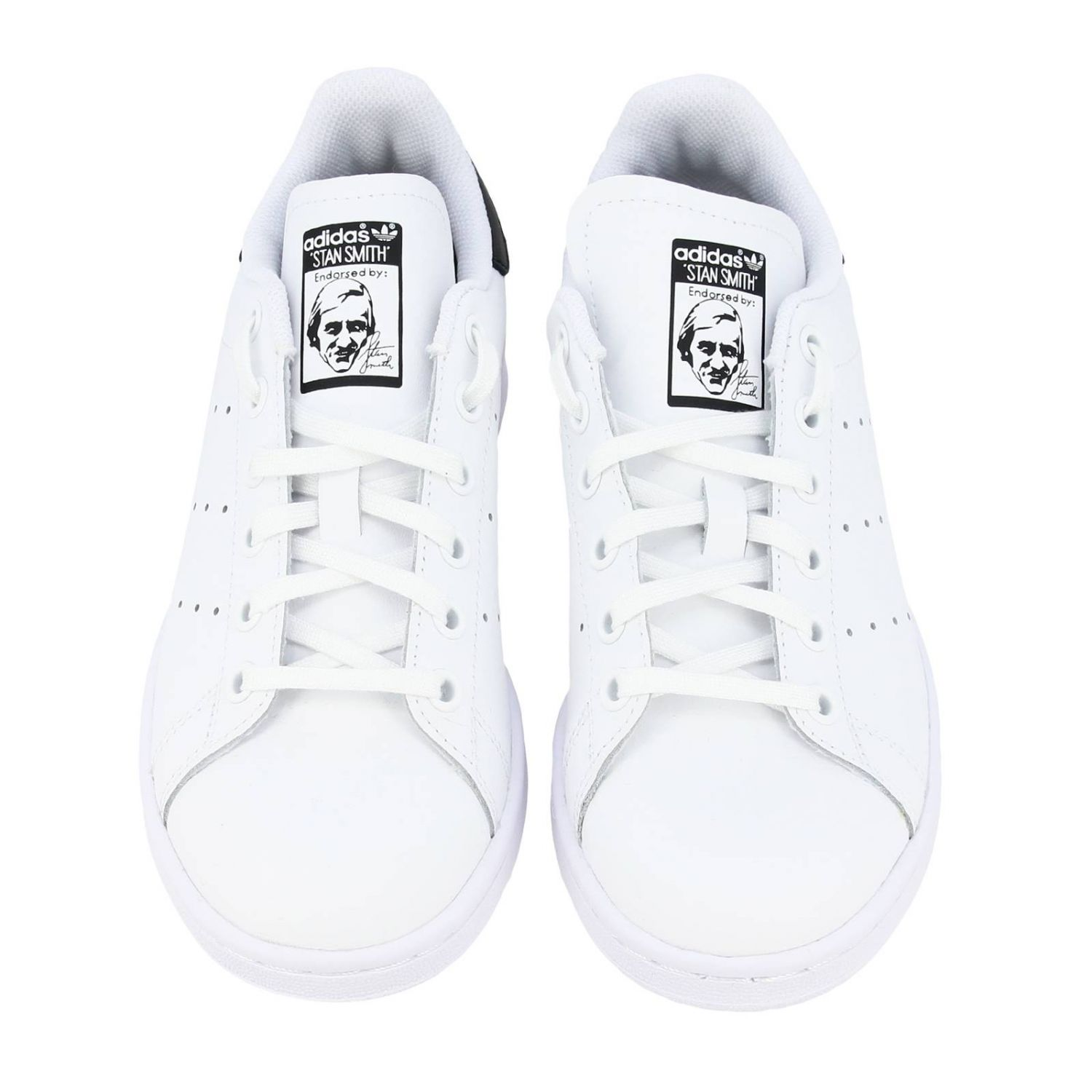 鞋履 Adidas Originals: Adidas Originals Stan Smith 真皮对比后跟运动鞋 白色 3