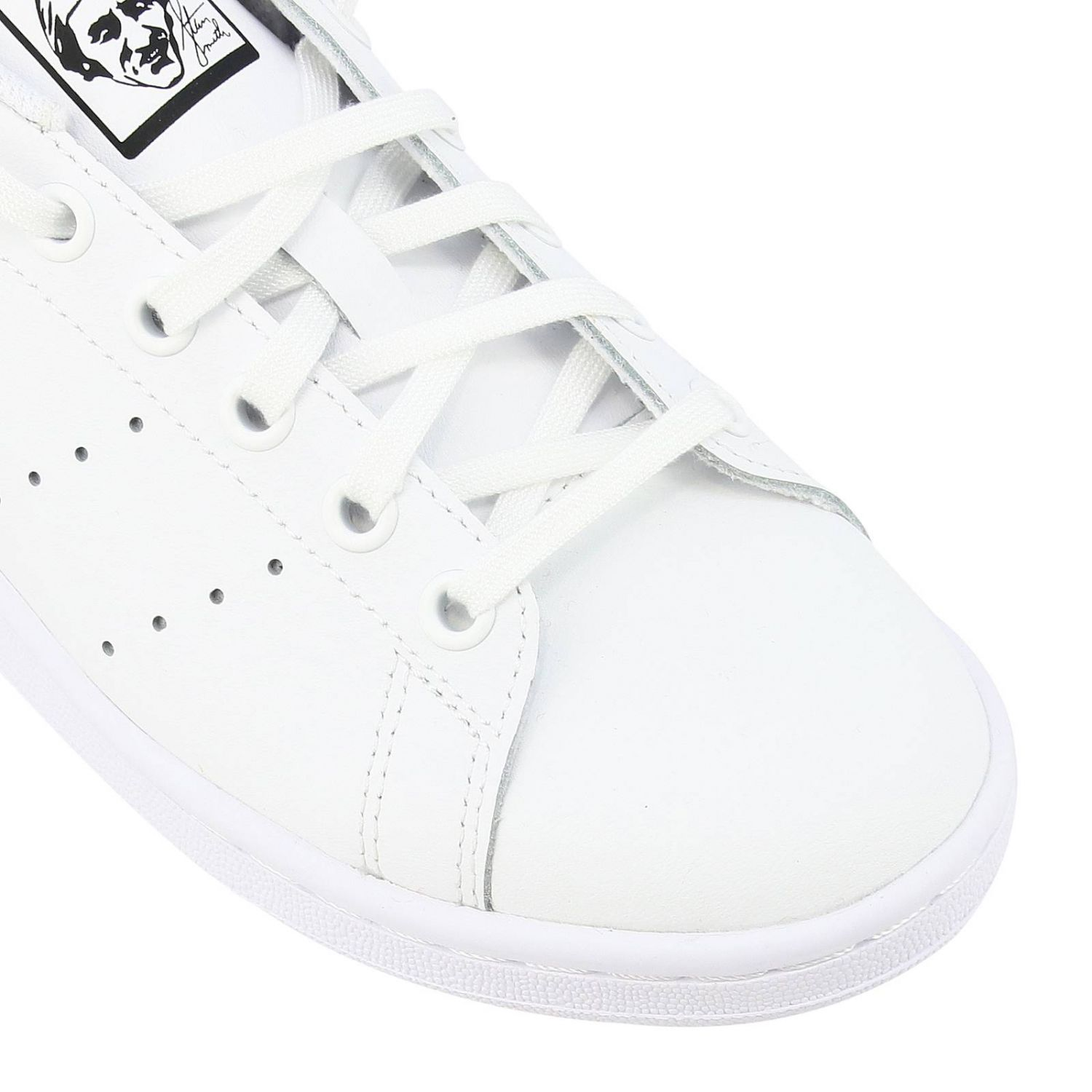 鞋履 Adidas Originals: Adidas Originals Stan Smith 真皮对比后跟运动鞋 白色 4