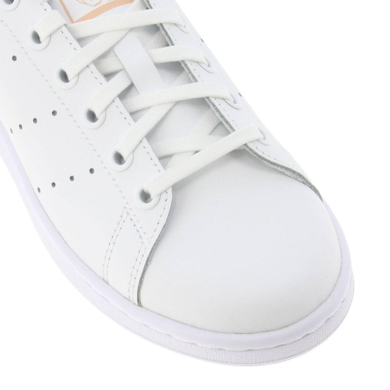 Zapatos Adidas Originals: Zapatillas Stan Smith Adidas Originals de cuero con tacón en contraste blanco 4