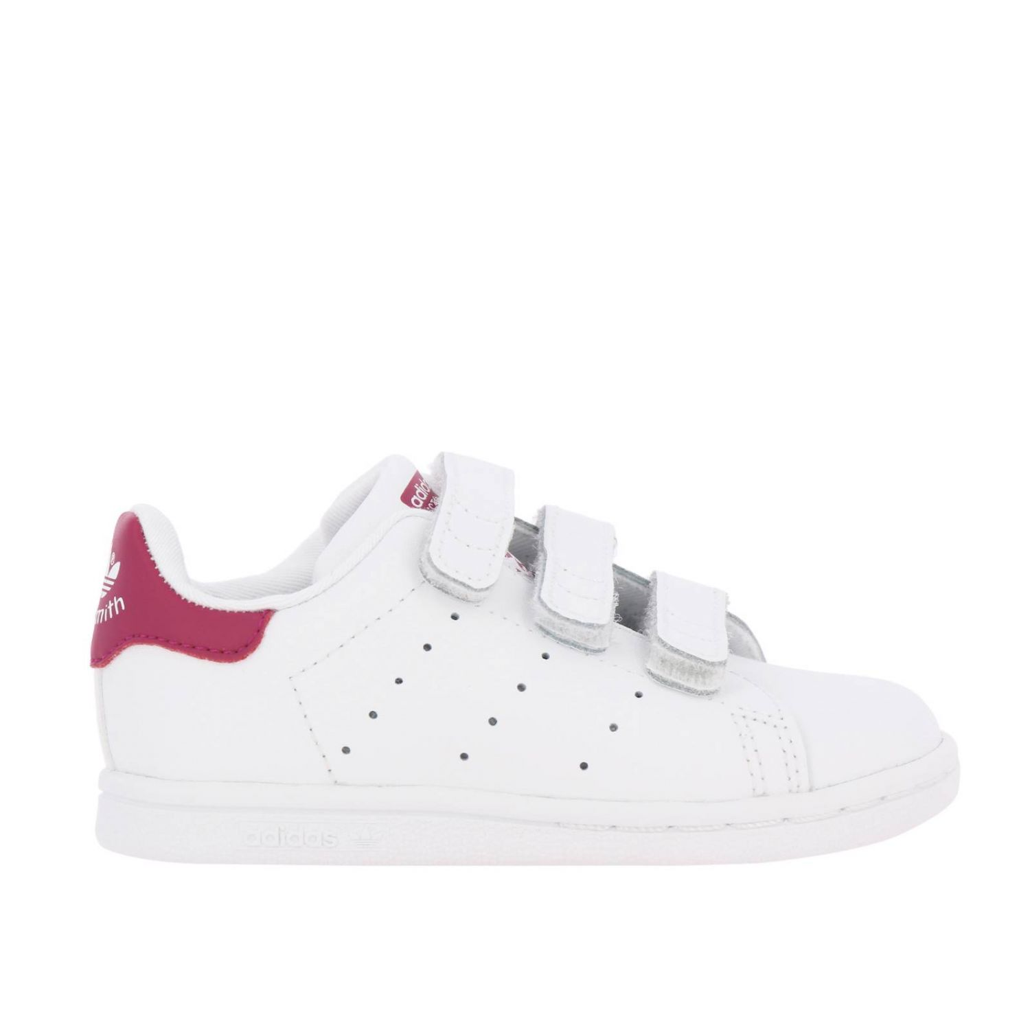 Zapatos Adidas Originals: Zapatillas Stan Smith Adidas Originals de cuero liso con tacón de color blanco 1