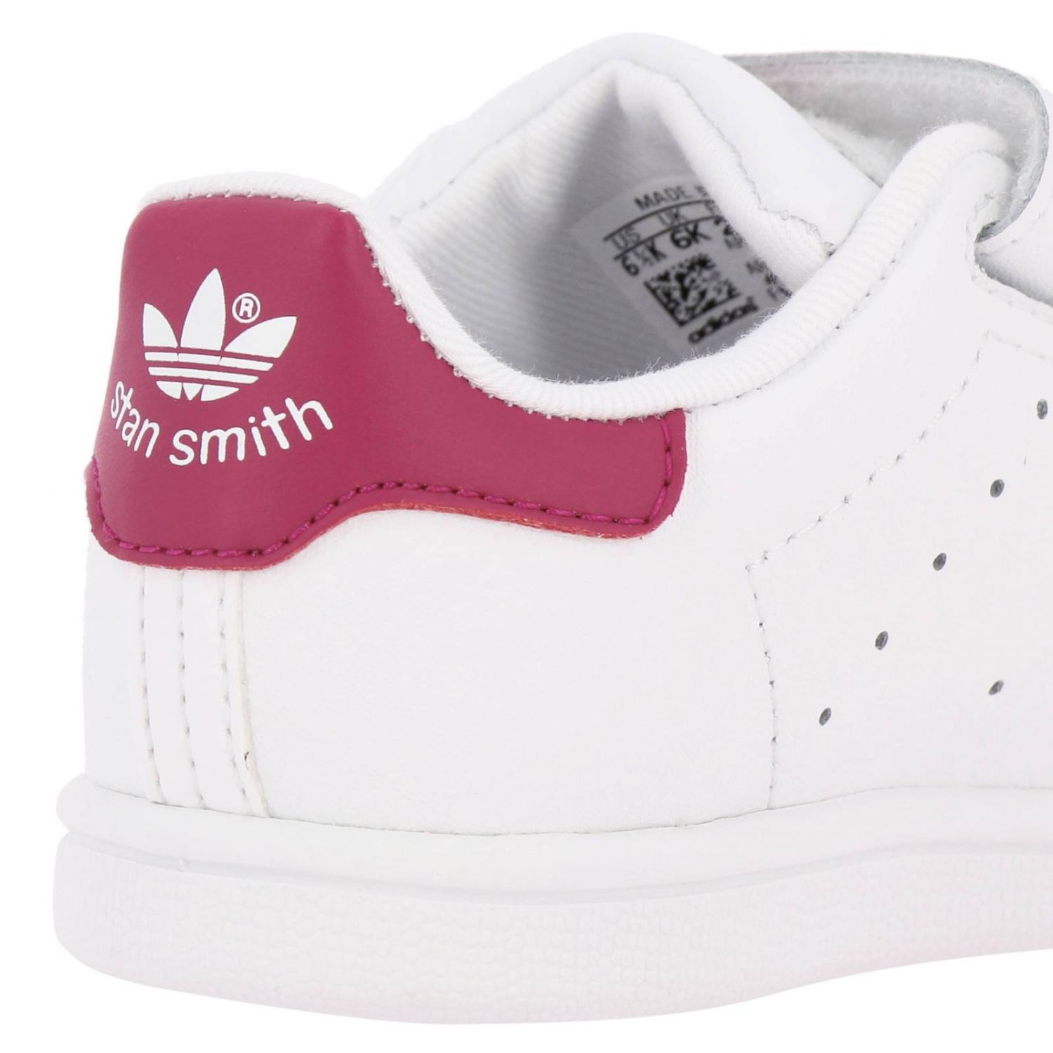 Zapatos Adidas Originals: Zapatillas Stan Smith Adidas Originals de cuero liso con tacón de color blanco 4