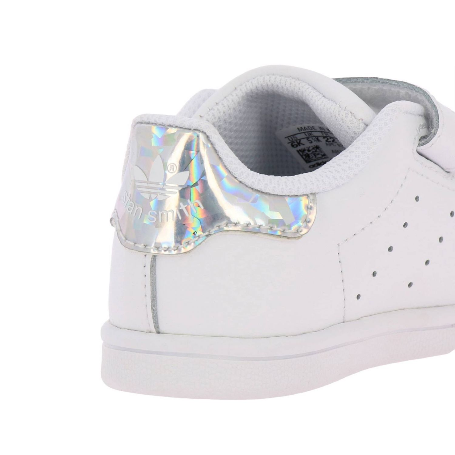 Shoes Adidas Originals: Stan Smith Adidas Originals Sneakers in smooth leather with mirrored heel white 4