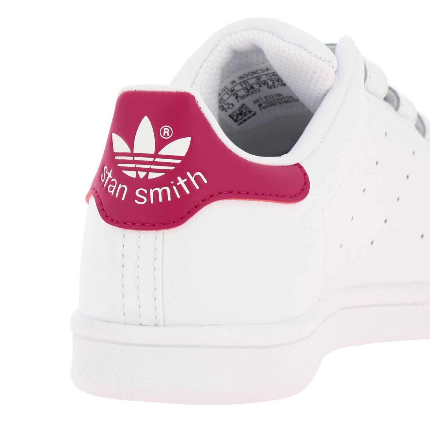 Shoes Adidas Originals: Stan Smith Adidas Originals Sneakers in smooth leather with colored heel white 4