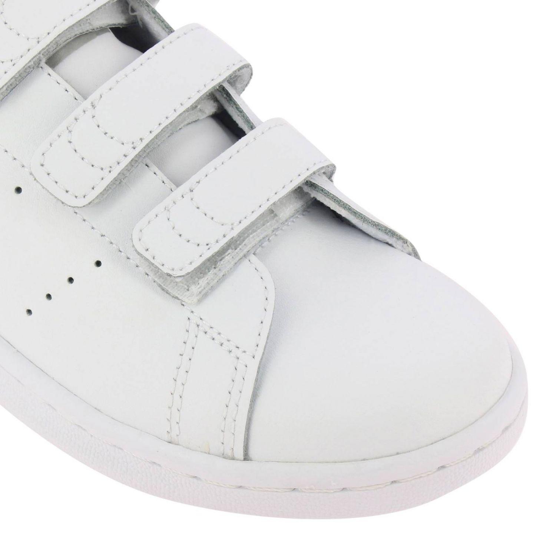 鞋履 Adidas Originals: Adidas Originals Stan Smith 真皮镜面后跟运动鞋 白色 3