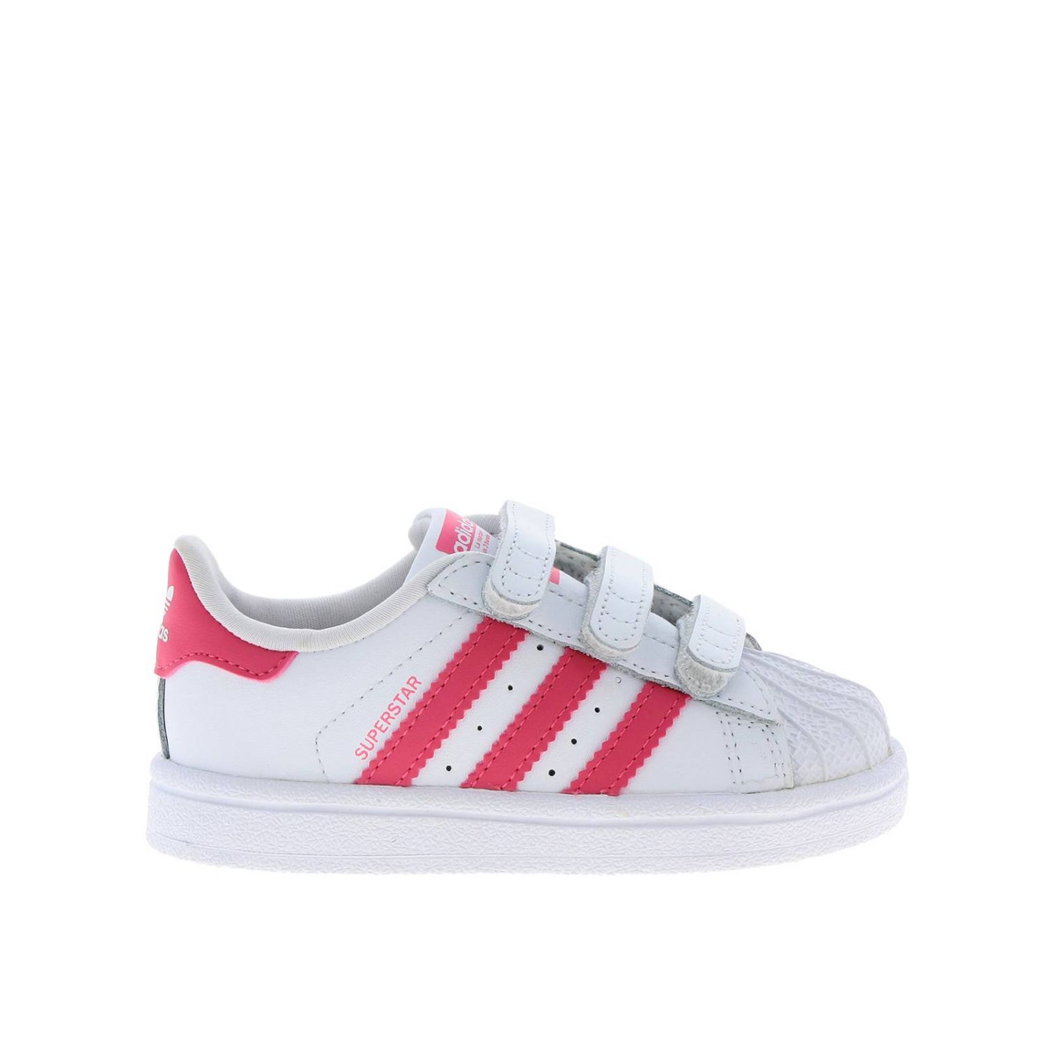 Shoes Adidas Originals: Adidas Originals Superstar Sneakers in leather with 3 contrasting stripes white 1