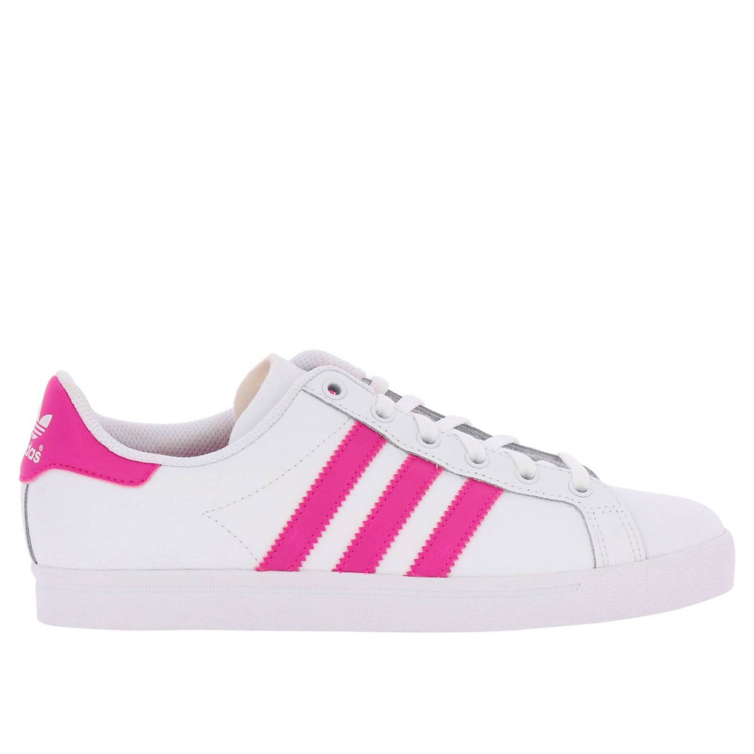 Scarpe Adidas Originals: Sneakers Coast star J Adidas Originals in pelle con bande a contrasto bianco 1