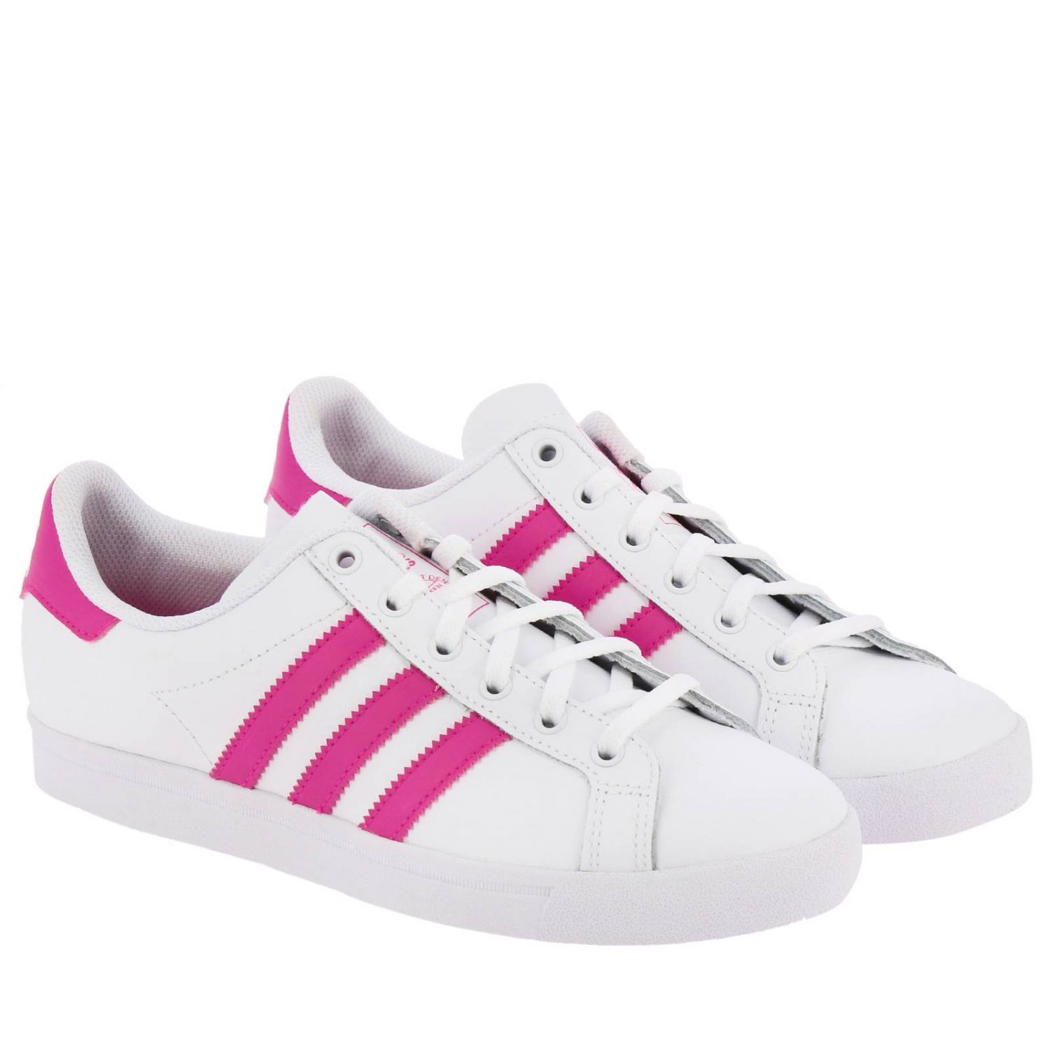 Scarpe Adidas Originals: Sneakers Coast star J Adidas Originals in pelle con bande a contrasto bianco 2