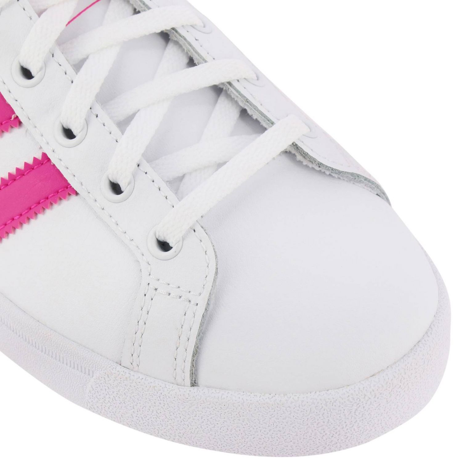 Scarpe Adidas Originals: Sneakers Coast star J Adidas Originals in pelle con bande a contrasto bianco 3