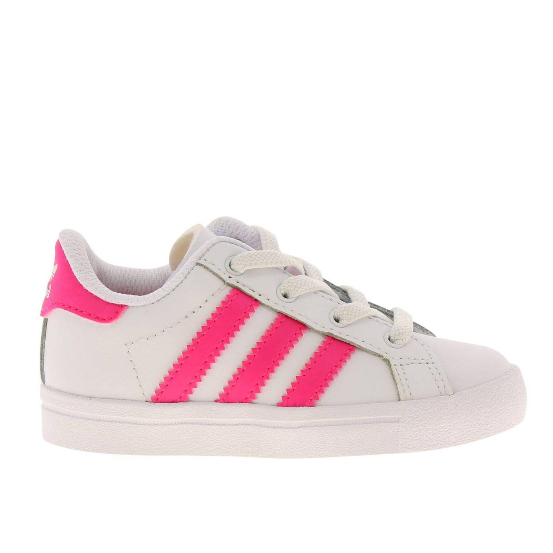 Scarpe Adidas Originals: Sneakers Coast star Adidas Originals in pelle con bande a contrasto bianco 1