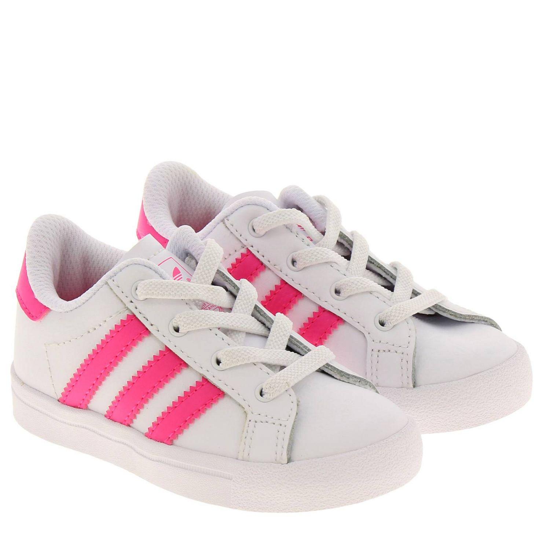 Scarpe Adidas Originals: Sneakers Coast star Adidas Originals in pelle con bande a contrasto bianco 2