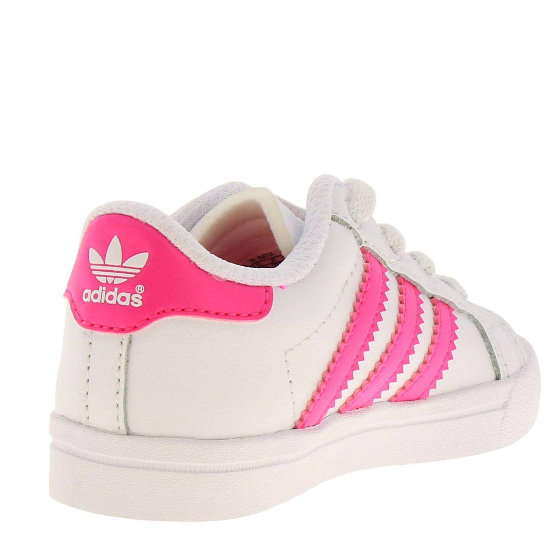Scarpe Adidas Originals: Sneakers Coast star Adidas Originals in pelle con bande a contrasto bianco 4