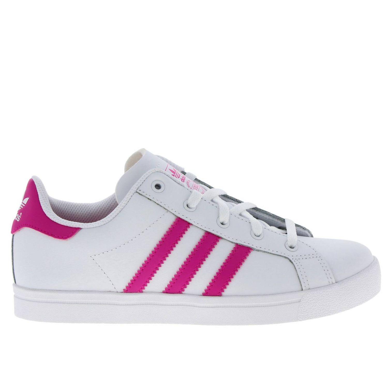 鞋履 Adidas Originals: Adidas Originals Coast star C 真皮三条纹运动鞋 白色 1