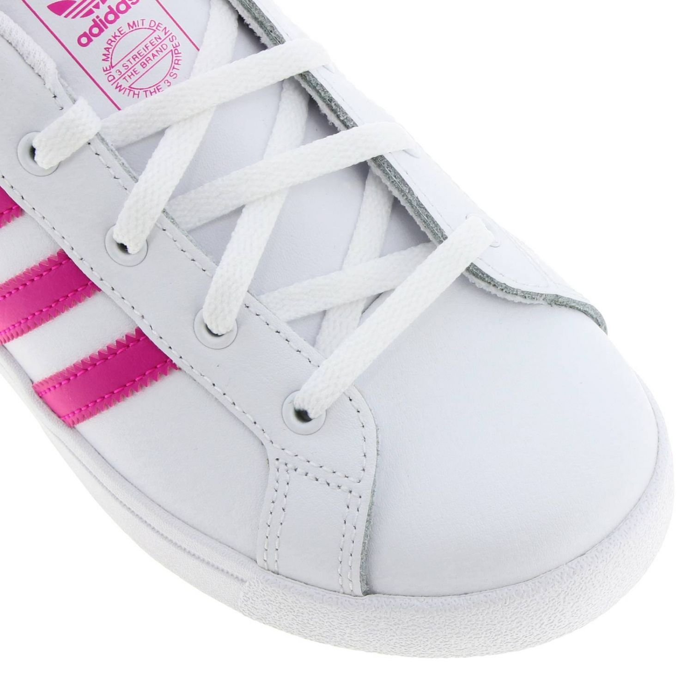 鞋履 Adidas Originals: Adidas Originals Coast star C 真皮三条纹运动鞋 白色 3