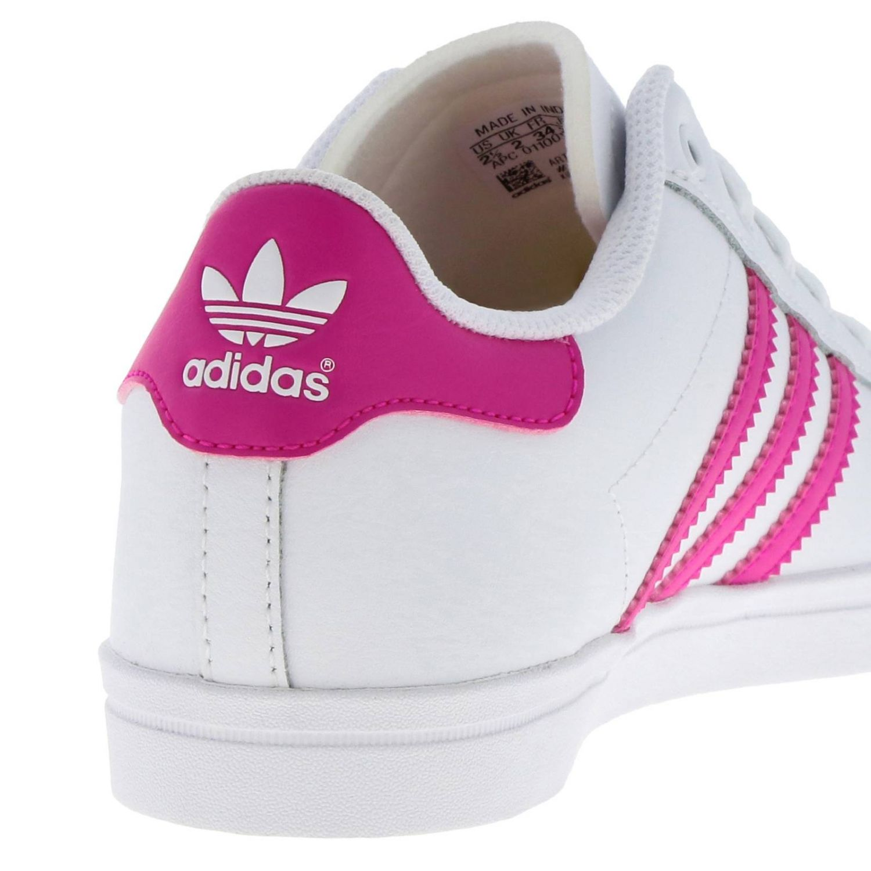 鞋履 Adidas Originals: Adidas Originals Coast star C 真皮三条纹运动鞋 白色 4