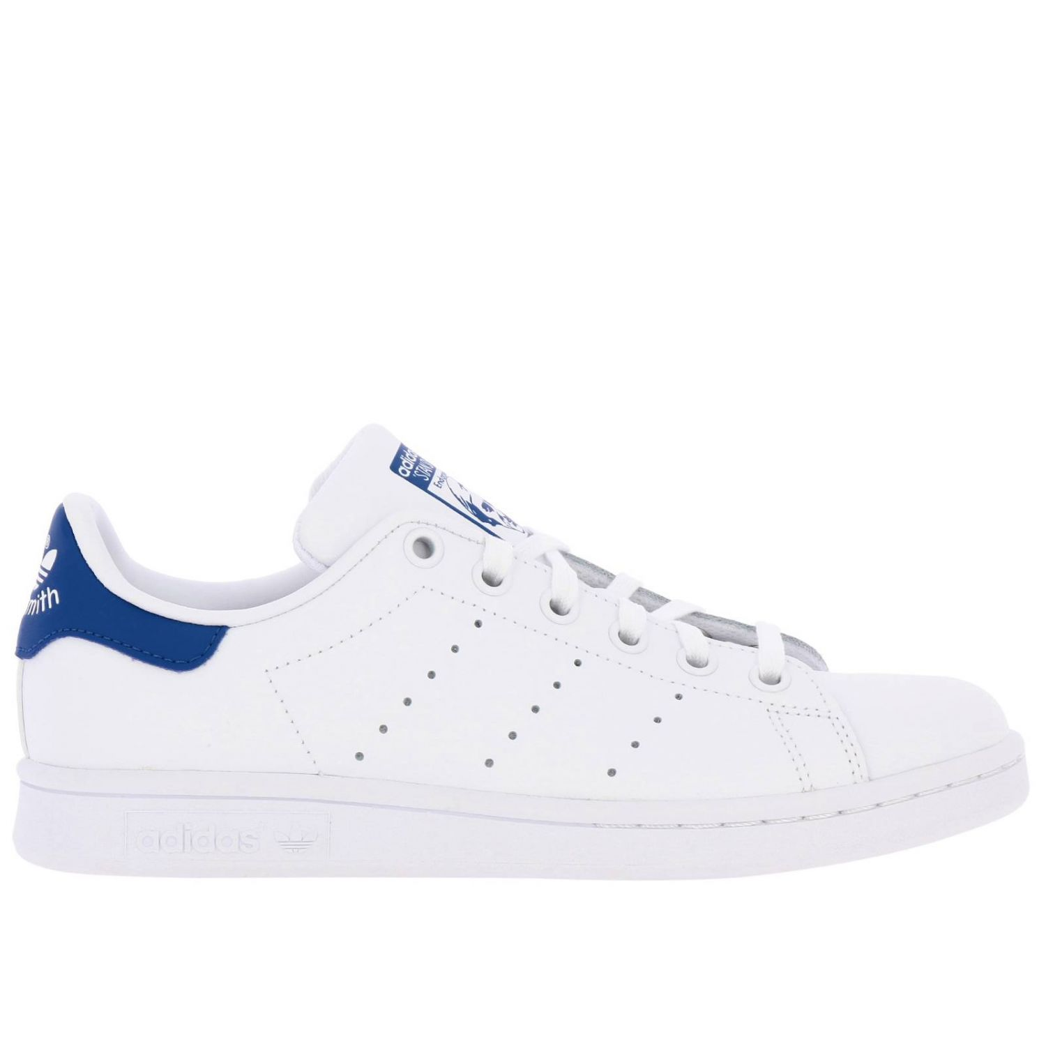 Zapatos Adidas Originals: Zapatillas Stan Smith J Adidas Originals de cuero con tacón en contraste blanco 1
