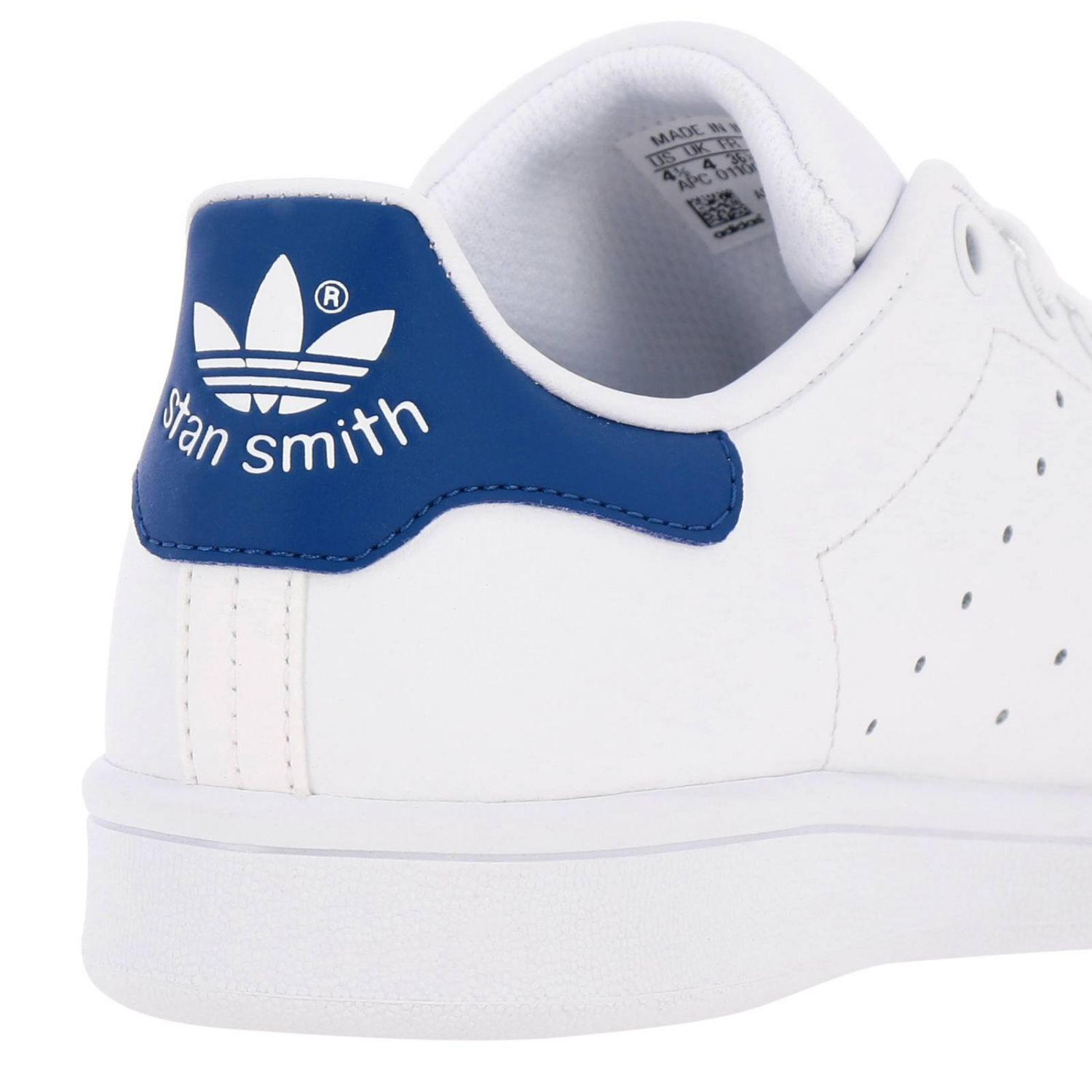 Zapatos Adidas Originals: Zapatillas Stan Smith J Adidas Originals de cuero con tacón en contraste blanco 4