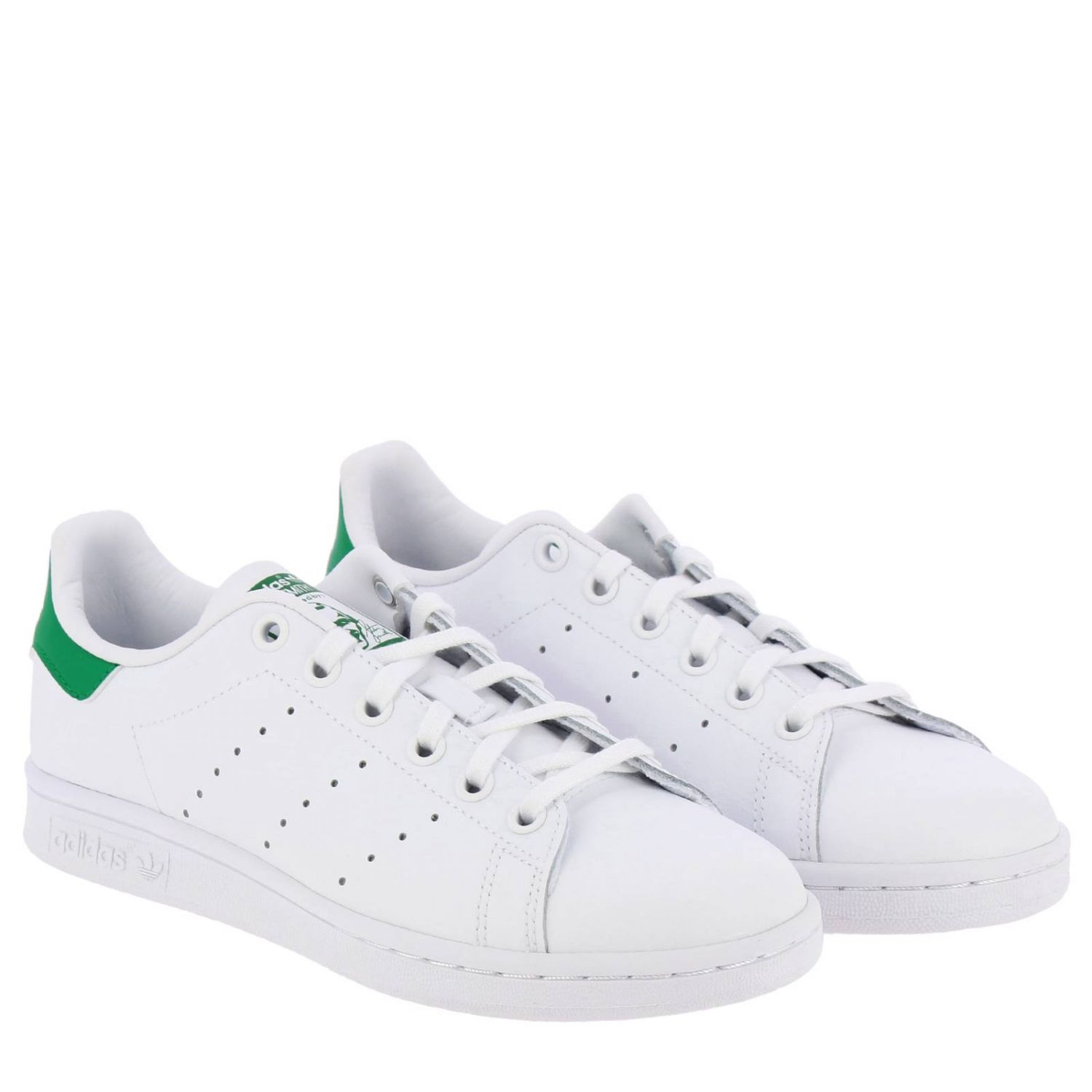 Shoes Adidas Originals: Stan Smith J Adidas Originals Sneakers in smooth leather white 2