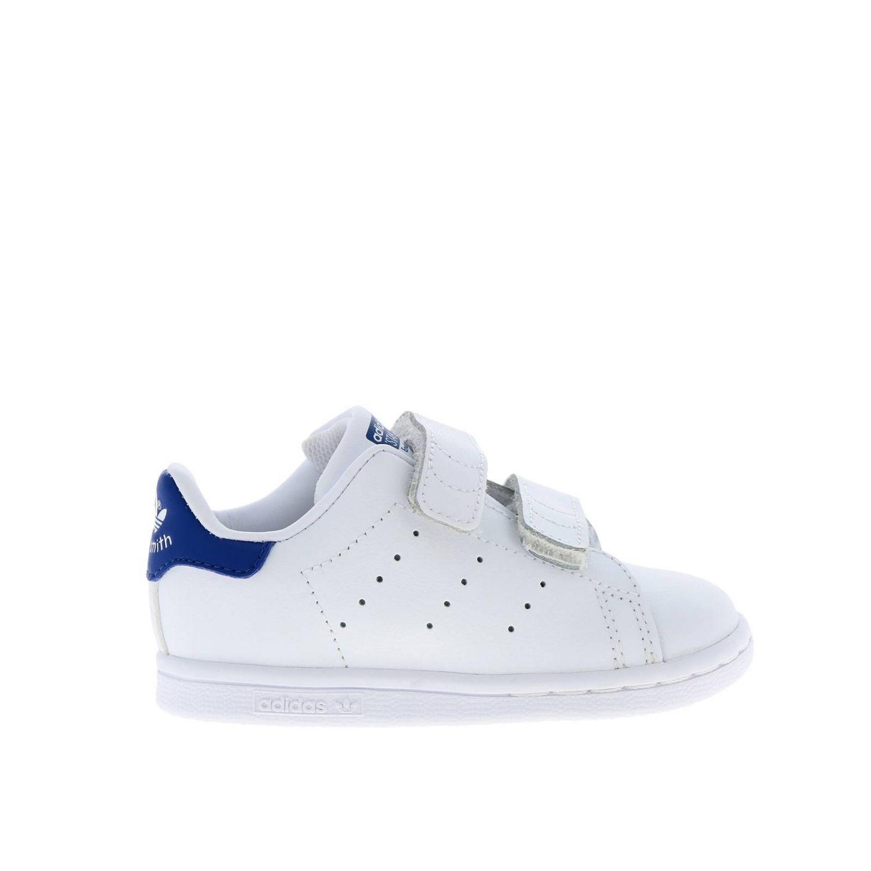 Zapatos Adidas Originals: Zapatillas Stan Smith Adidas Originals de cuero liso con tacón de color blanco 1