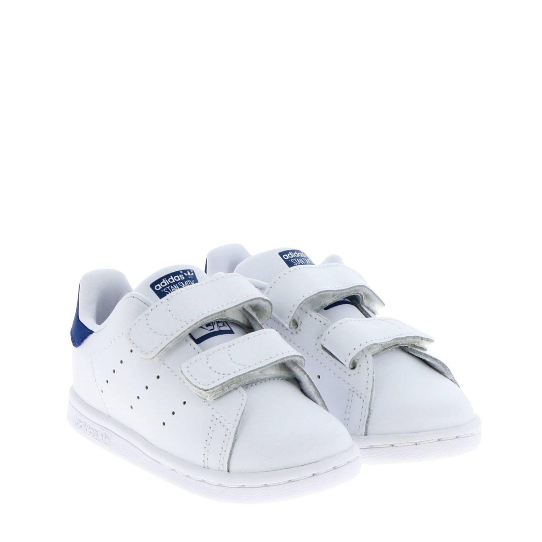 Zapatos Adidas Originals: Zapatillas Stan Smith Adidas Originals de cuero liso con tacón de color blanco 2