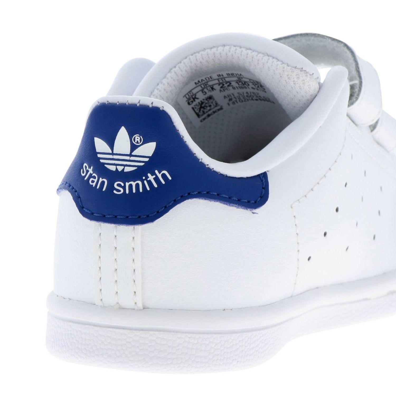 Zapatos Adidas Originals: Zapatillas Stan Smith Adidas Originals de cuero liso con tacón de color blanco 4