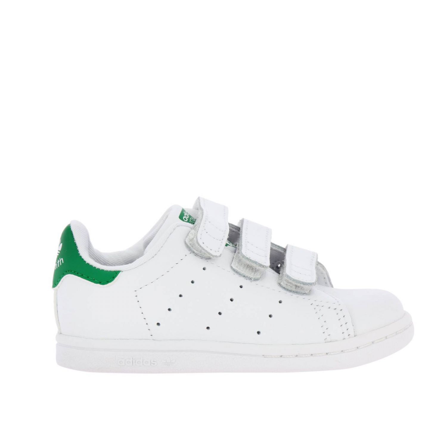 Stan Smith Adidas Originals Sneakers in smooth leather with colored heel white 1