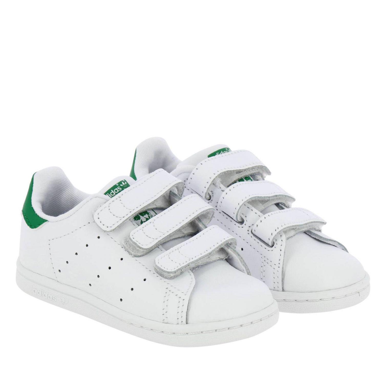 Scarpe Adidas Originals: Sneakers Stan Smith Adidas Originals in pelle liscia con tallone colorato bianco 2