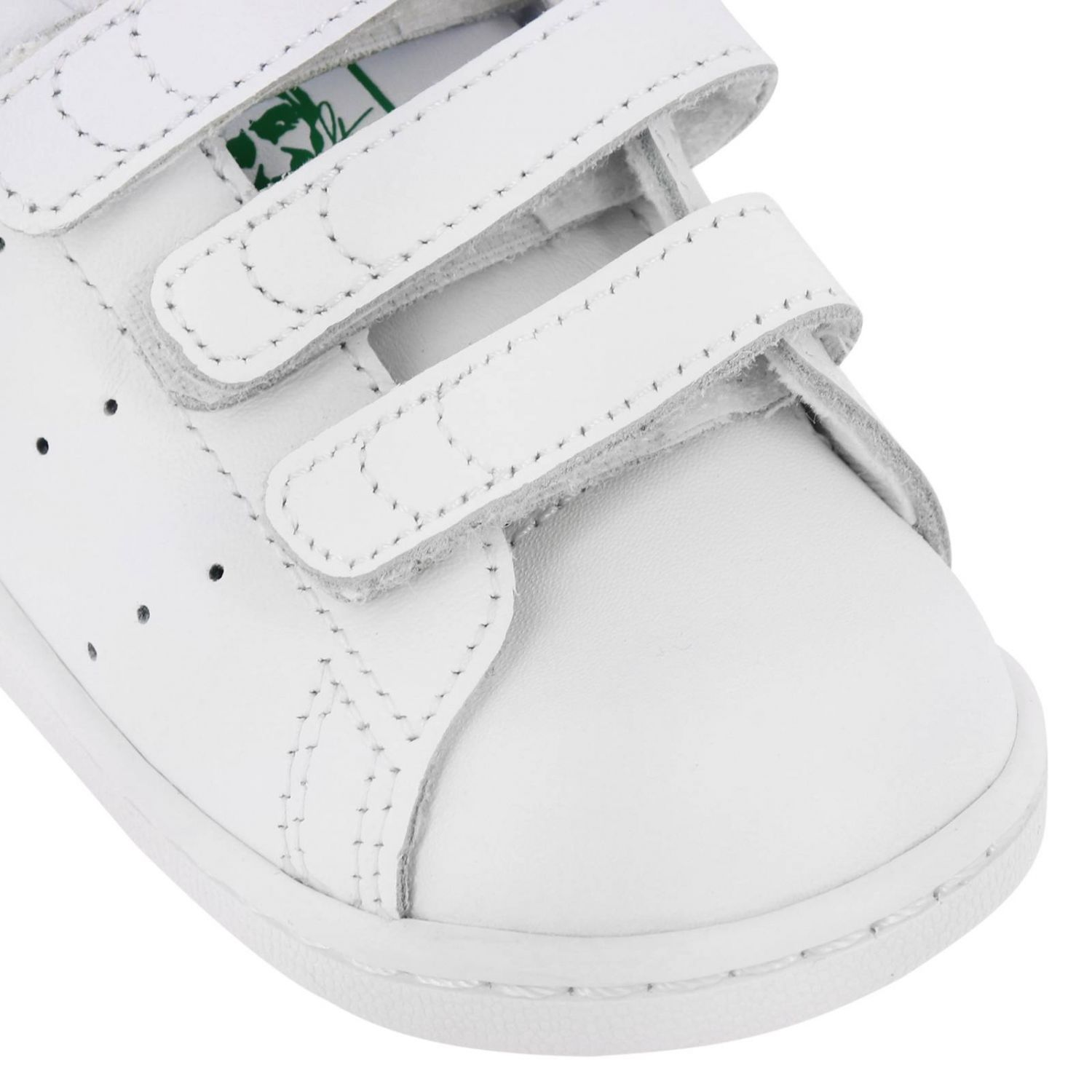 Stan Smith Adidas Originals Sneakers in smooth leather with colored heel white 3