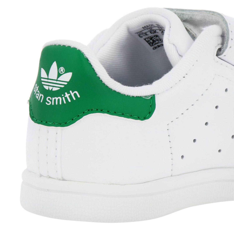 Scarpe Adidas Originals: Sneakers Stan Smith Adidas Originals in pelle liscia con tallone colorato bianco 4