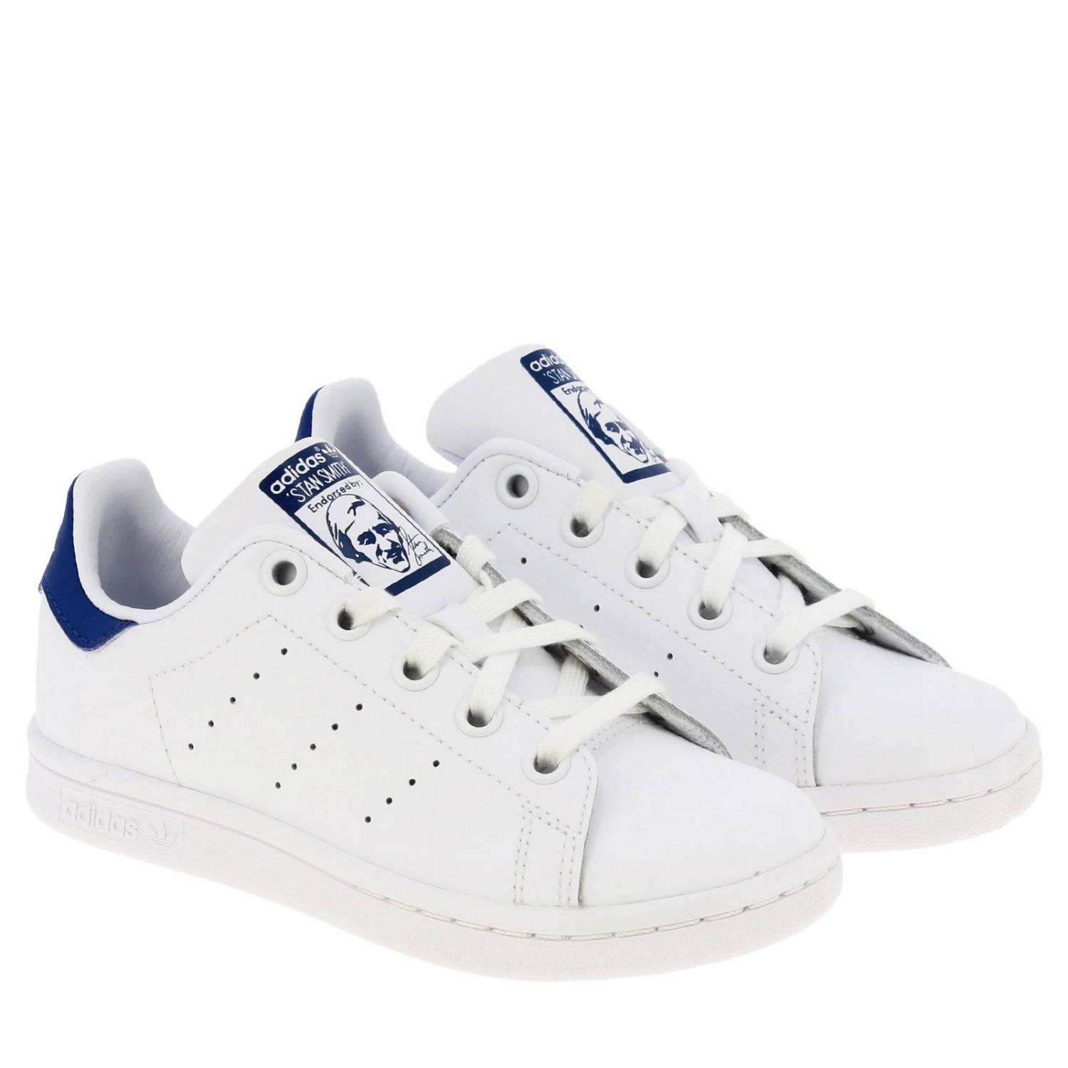 Shoes Adidas Originals: Stan Smith C Adidas Originals Sneakers in leather with contrasting heel white 2