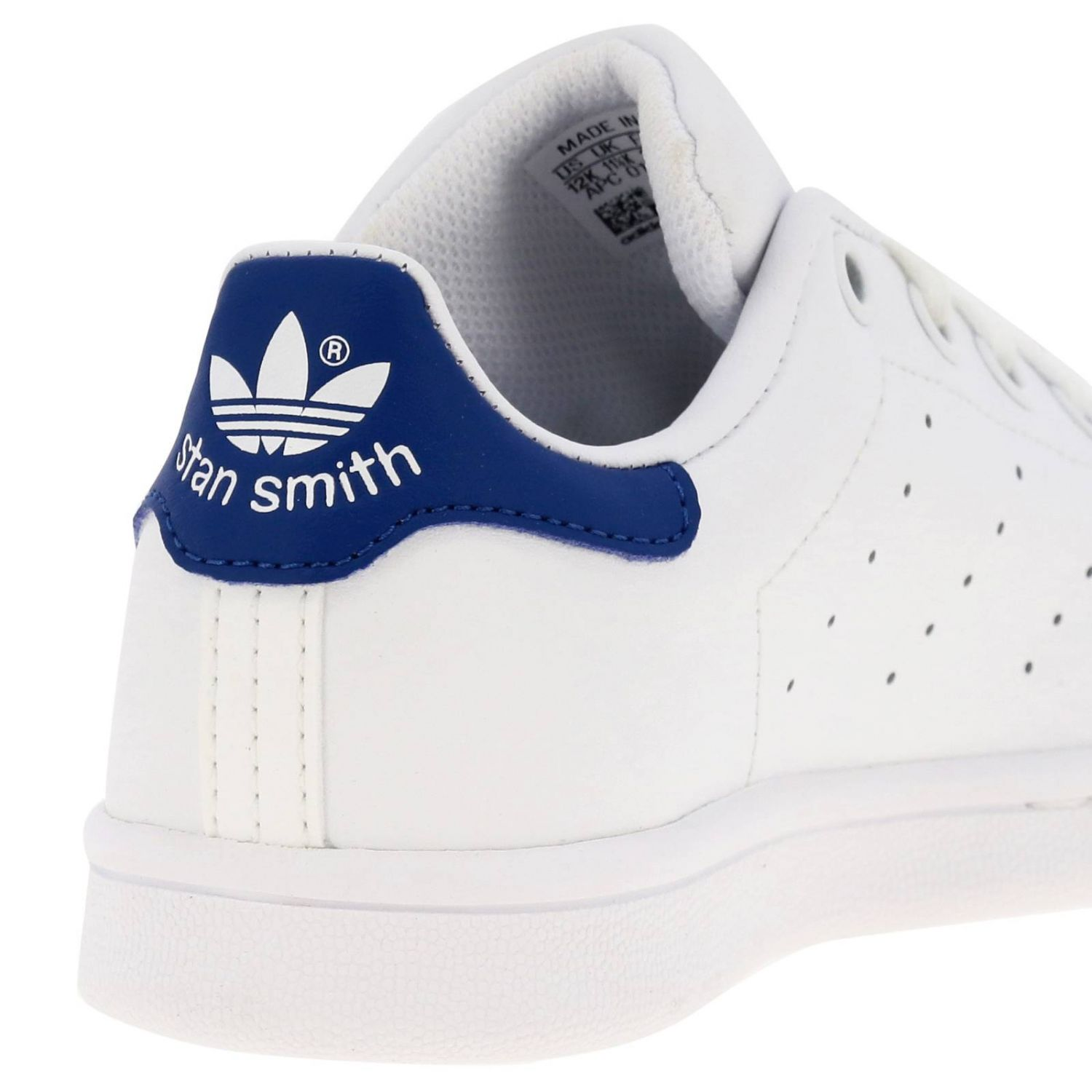Shoes Adidas Originals: Stan Smith C Adidas Originals Sneakers in leather with contrasting heel white 4