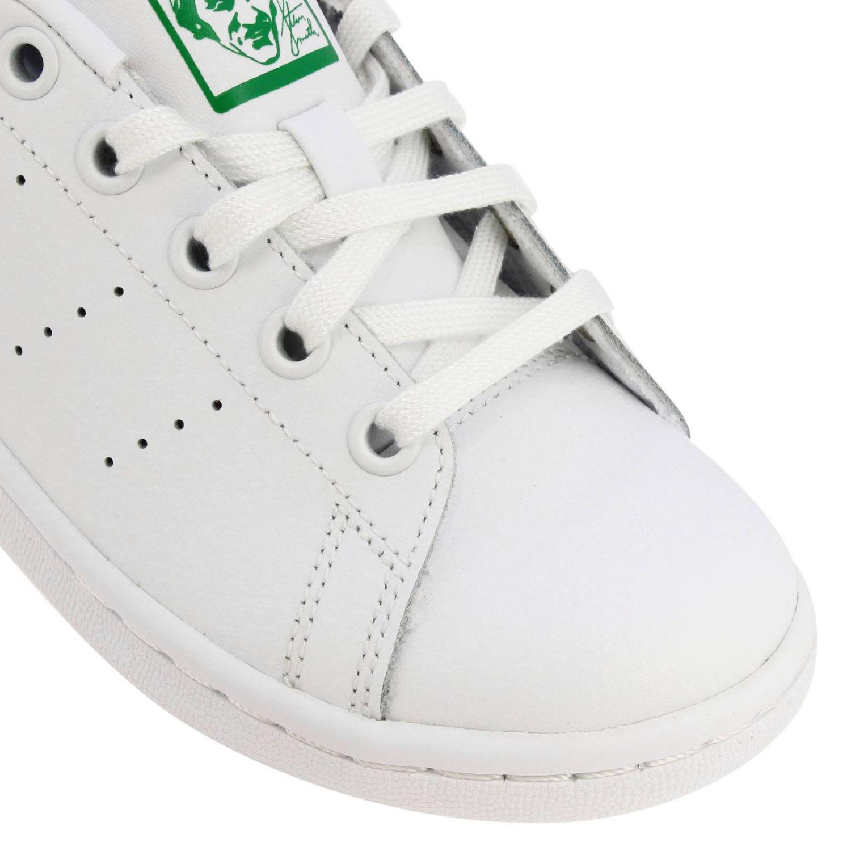 鞋履 Adidas Originals: Adidas Originals Stan Smith C 真皮对比色后跟运动鞋 白色 3