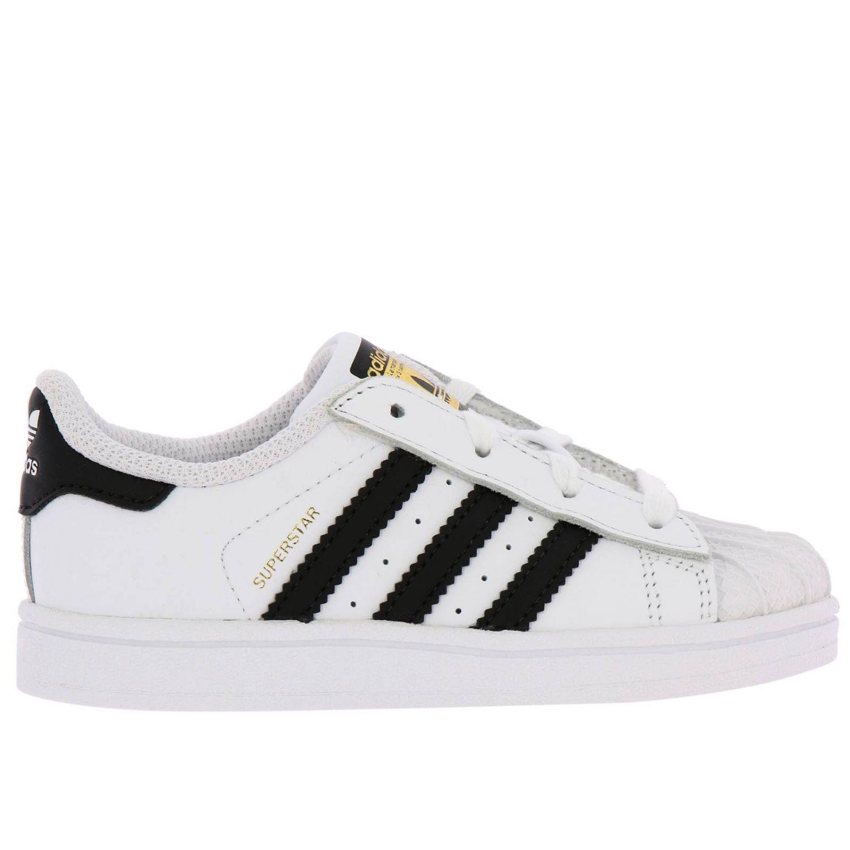 鞋履 Adidas Originals: Adidas Originals Superstar 真皮三条纹运动鞋 白色 1
