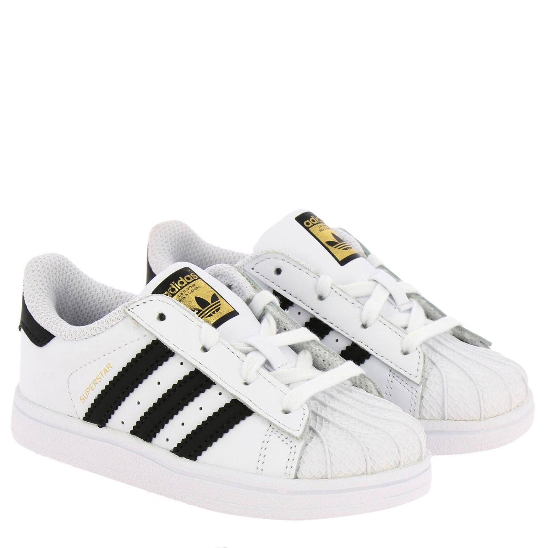 鞋履 Adidas Originals: Adidas Originals Superstar 真皮三条纹运动鞋 白色 2