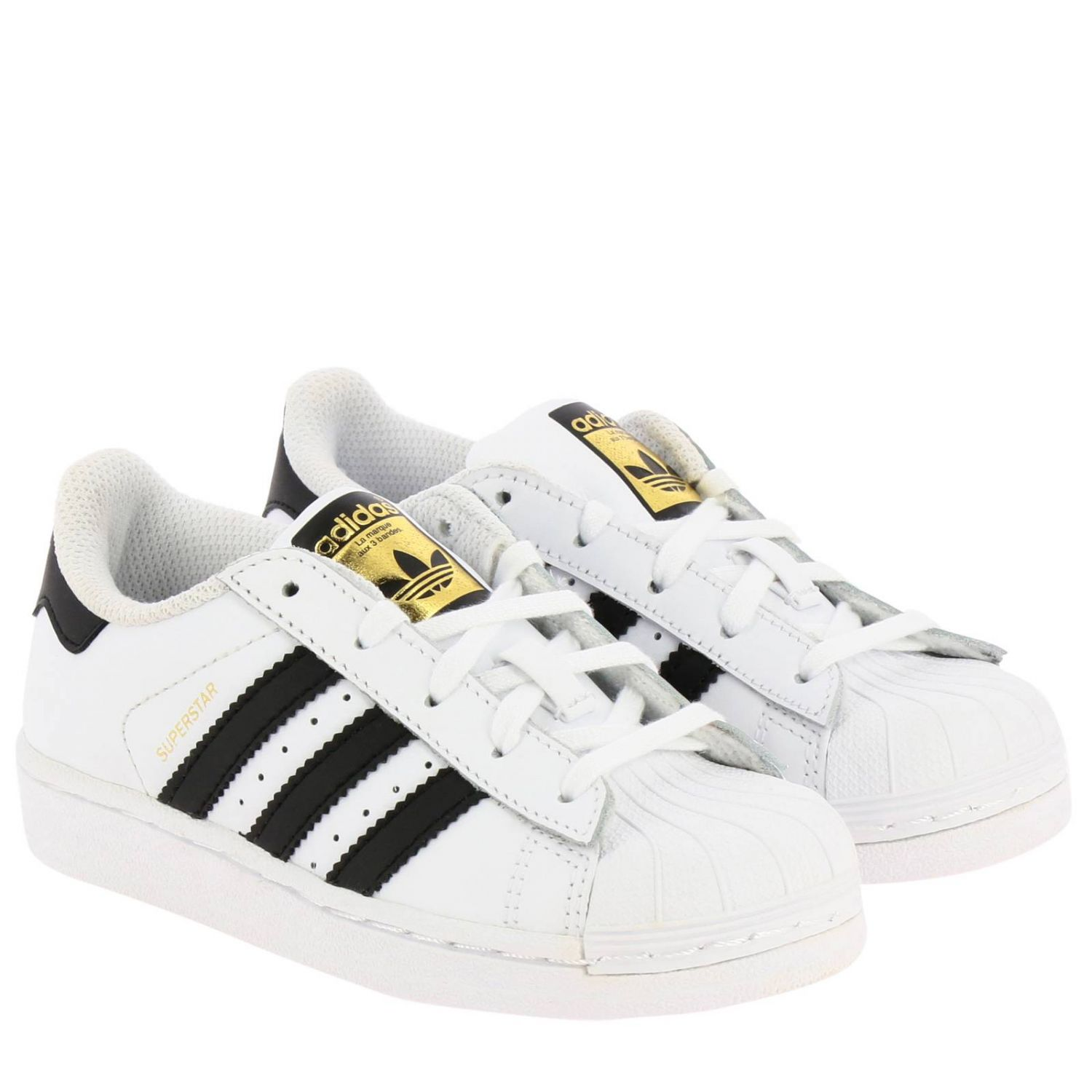 Shoes Adidas Originals: Adidas Originals Superstar Sneakers in leather with 3 contrasting stripes white 2