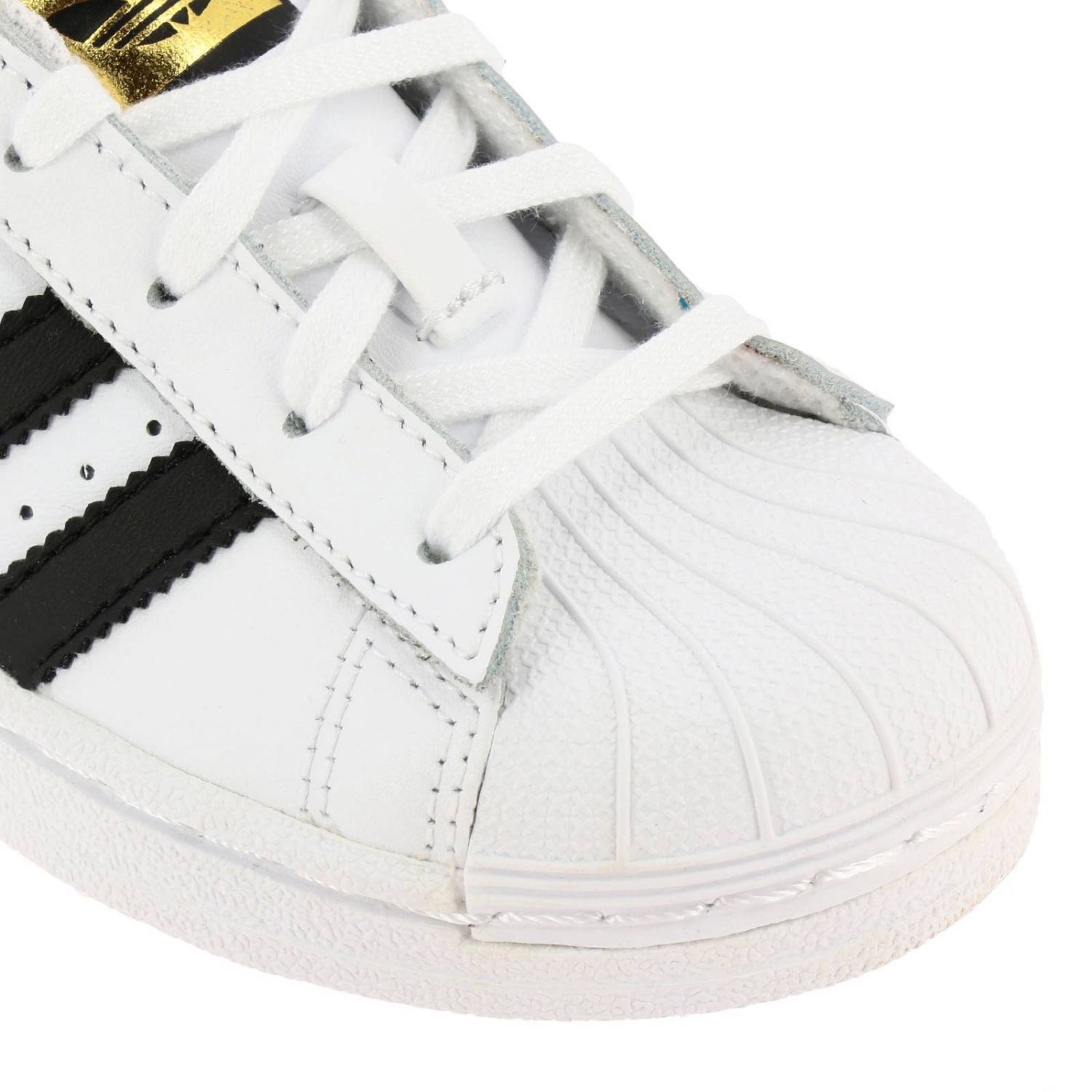 Shoes Adidas Originals: Adidas Originals Superstar Sneakers in leather with 3 contrasting stripes white 3
