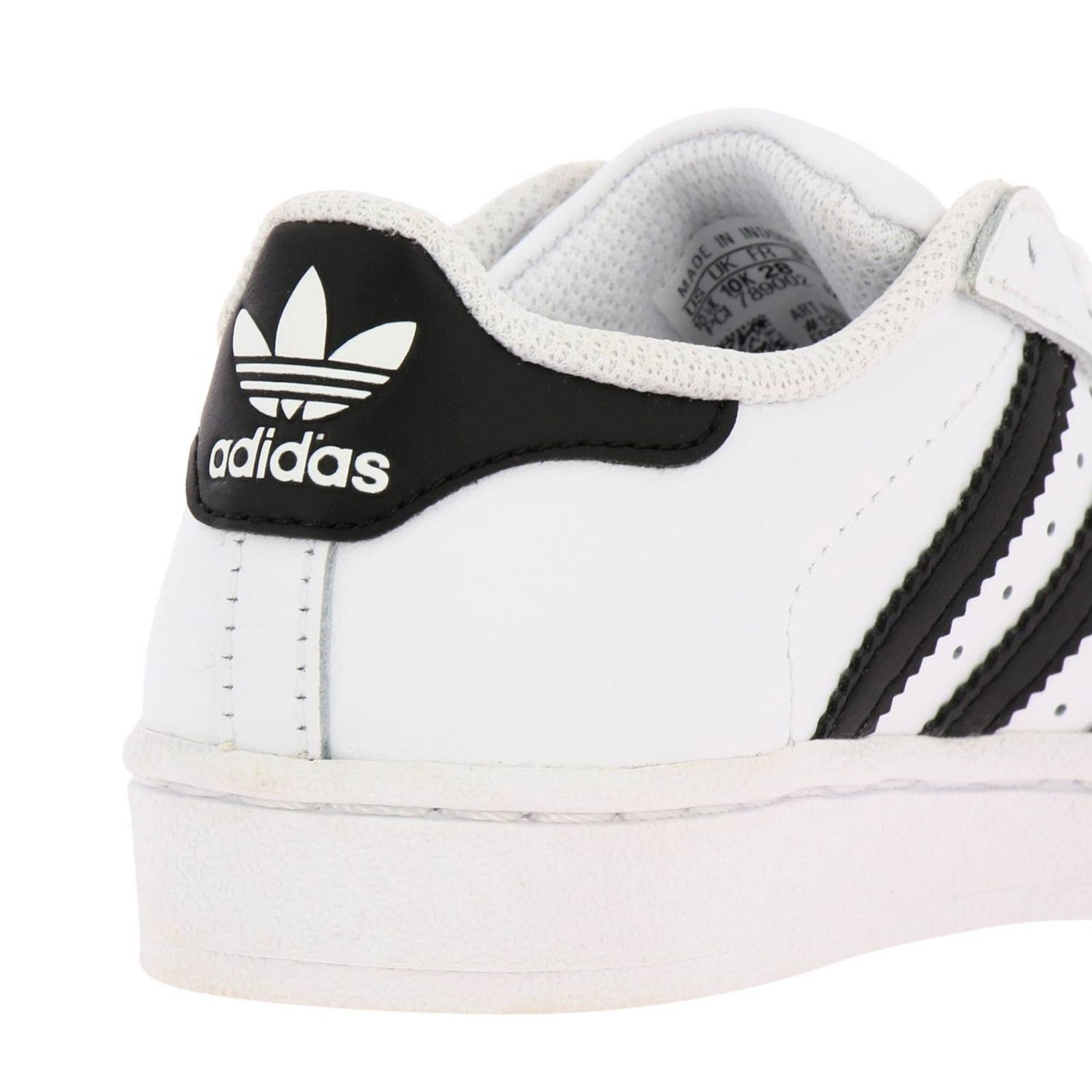 Shoes Adidas Originals: Adidas Originals Superstar Sneakers in leather with 3 contrasting stripes white 4