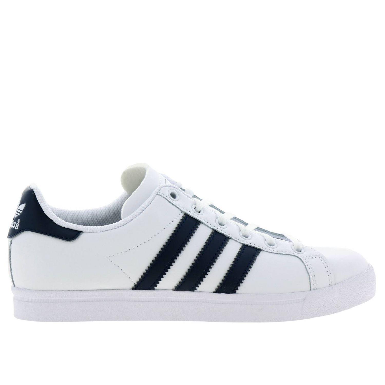 Scarpe Adidas Originals: Sneakers Coast star J Adidas Originals in pelle con bande a contrasto bianco 1