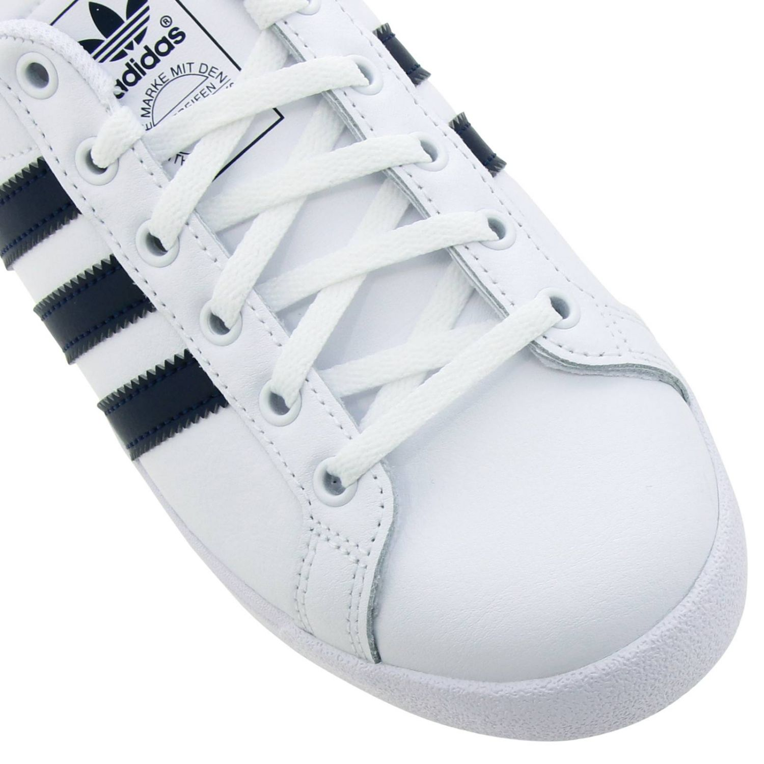 Coast star J Adidas Originals sneakers in leather with contrasting bands white 3