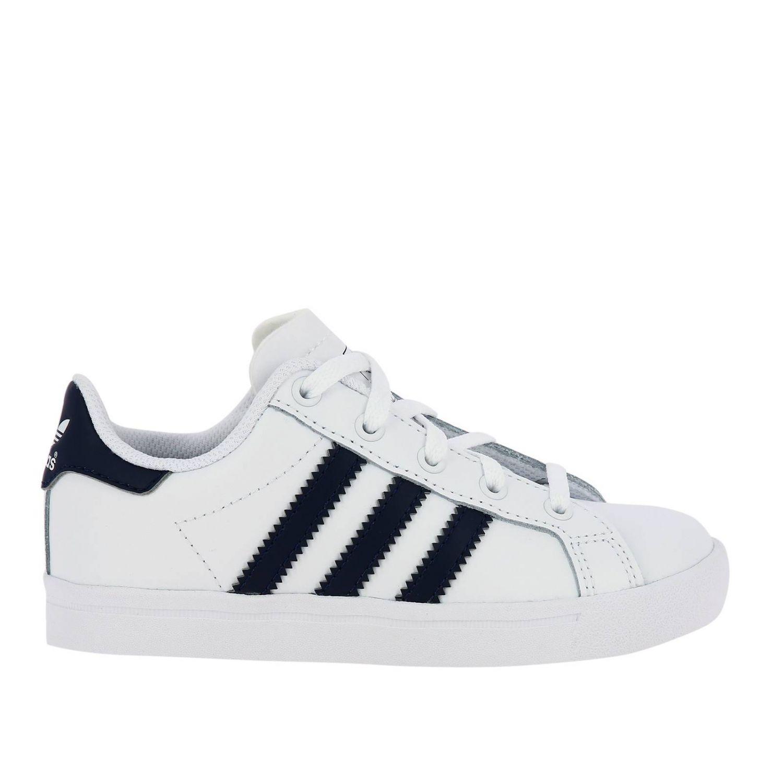 Scarpe Adidas Originals: Sneakers Coast star C Adidas Originals in pelle con bande a contrasto bianco 1