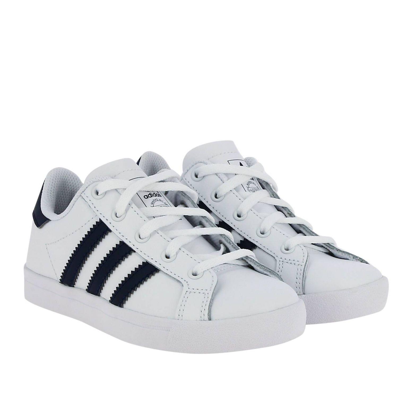 Scarpe Adidas Originals: Sneakers Coast star C Adidas Originals in pelle con bande a contrasto bianco 2