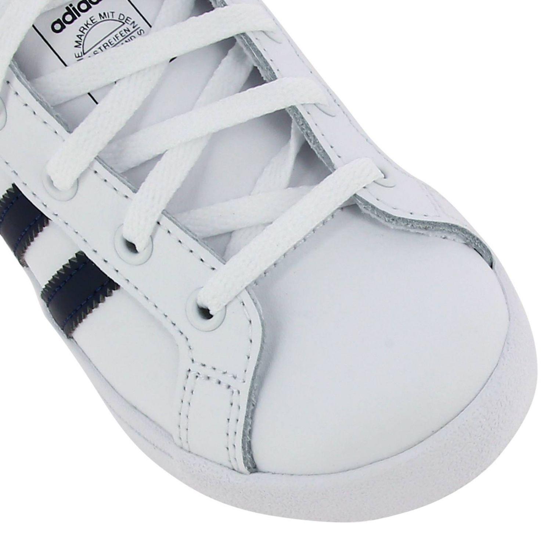 Scarpe Adidas Originals: Sneakers Coast star C Adidas Originals in pelle con bande a contrasto bianco 3