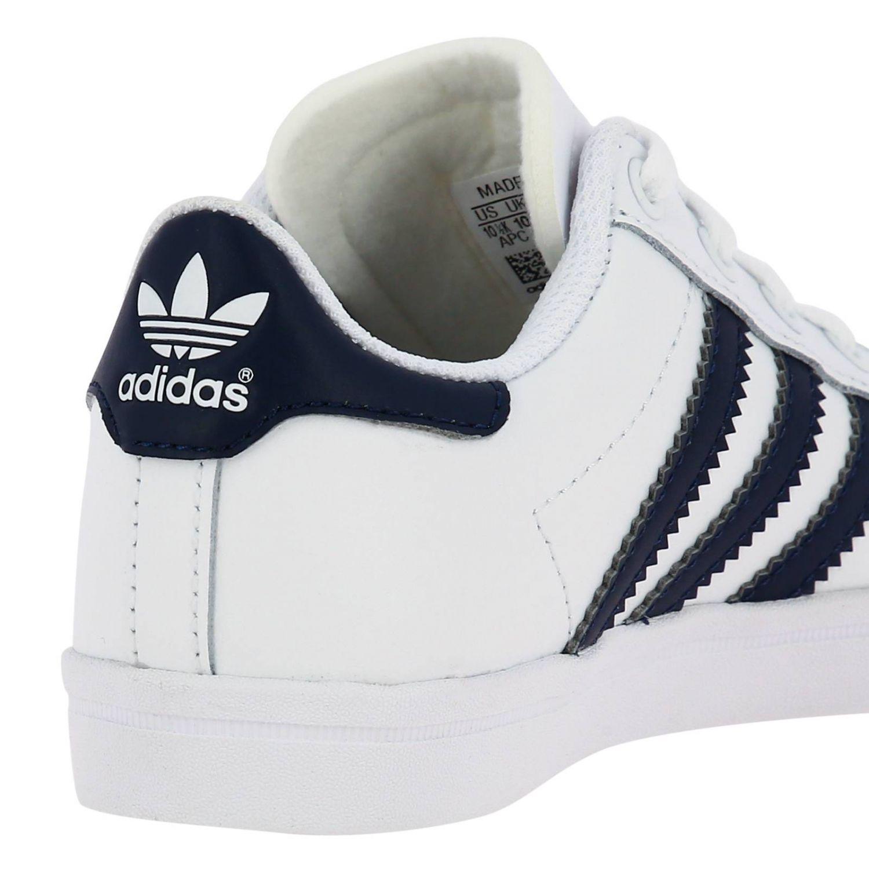 Scarpe Adidas Originals: Sneakers Coast star C Adidas Originals in pelle con bande a contrasto bianco 4