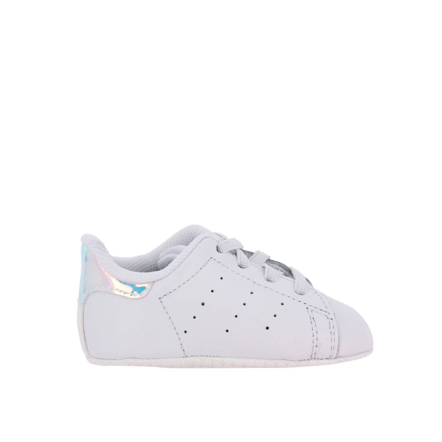 Shoes Adidas Originals: Stan Smith Crib Adidas Originals Sneakers in leather with mirrored heel white 1