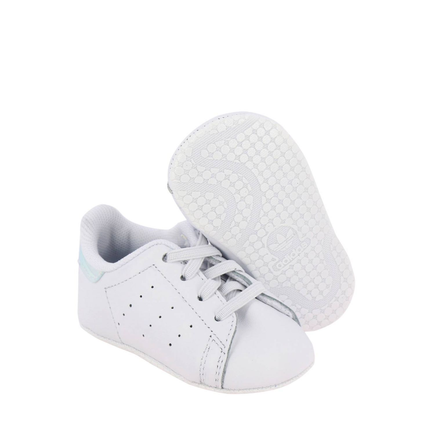 Shoes Adidas Originals: Stan Smith Crib Adidas Originals Sneakers in leather with mirrored heel white 2