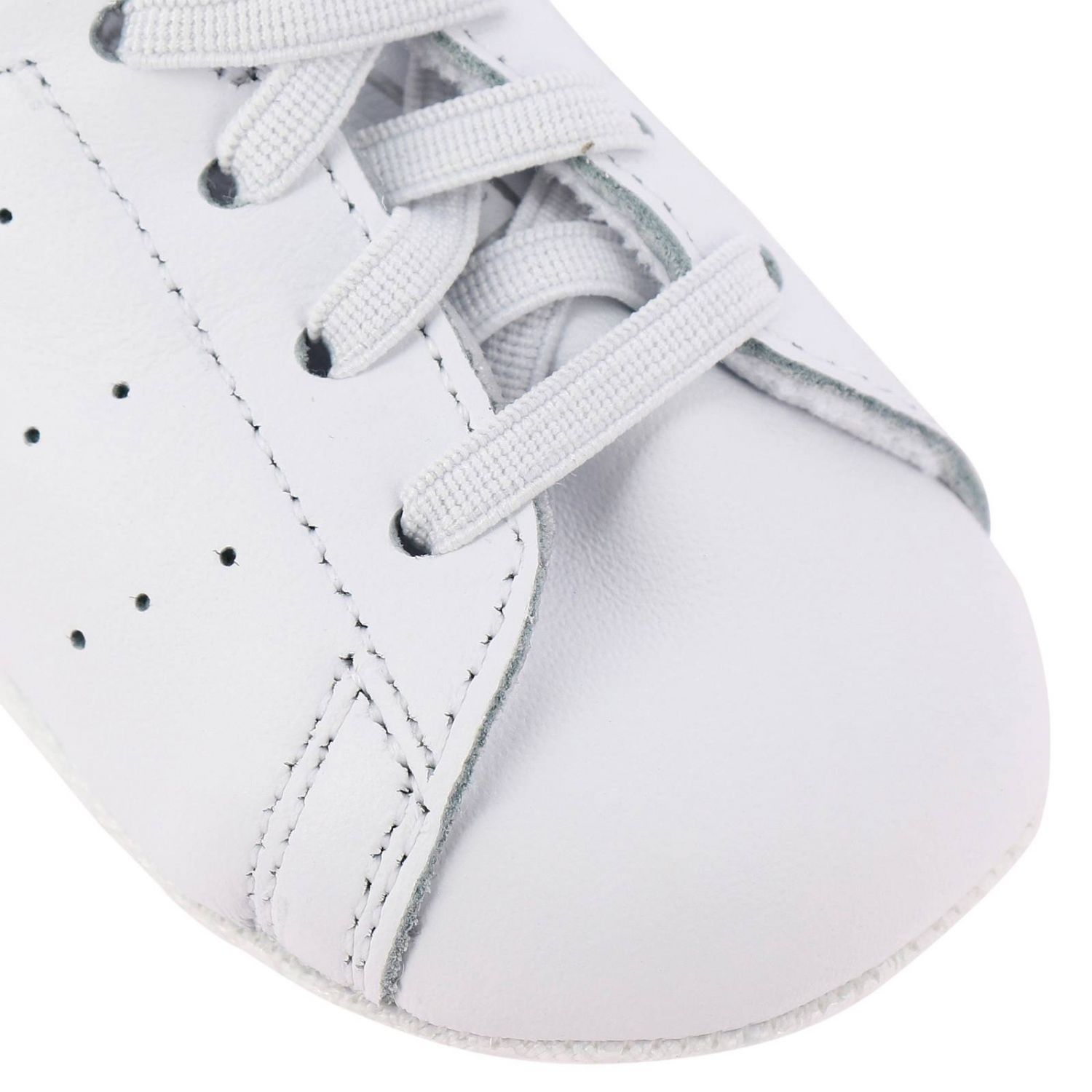 Shoes Adidas Originals: Stan Smith Crib Adidas Originals Sneakers in leather with mirrored heel white 3