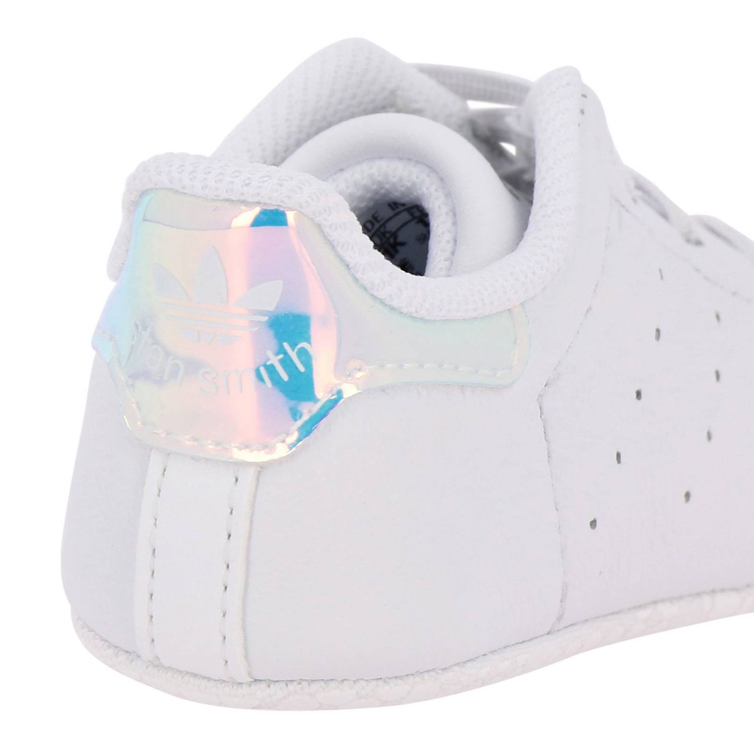 Shoes Adidas Originals: Stan Smith Crib Adidas Originals Sneakers in leather with mirrored heel white 4