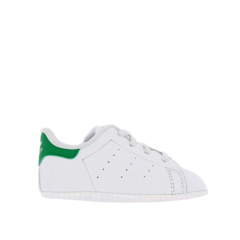 Scarpe Adidas Originals: Sneakers Stan Smith Crib Adidas Originals in pelle con tallone a contrasto bianco 1