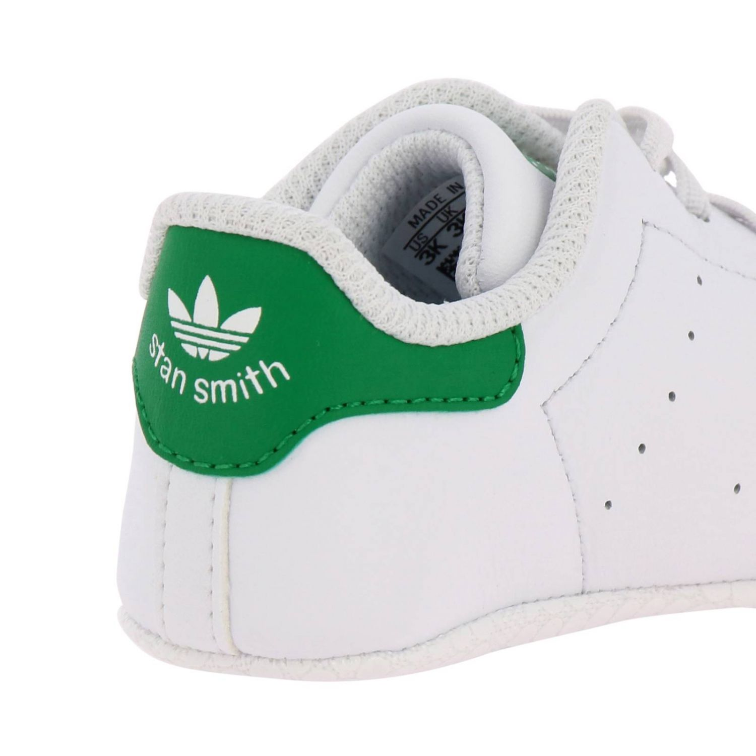 Shoes Adidas Originals: Stan Smith Crib Adidas Originals Sneakers in leather with contrasting heel white 4