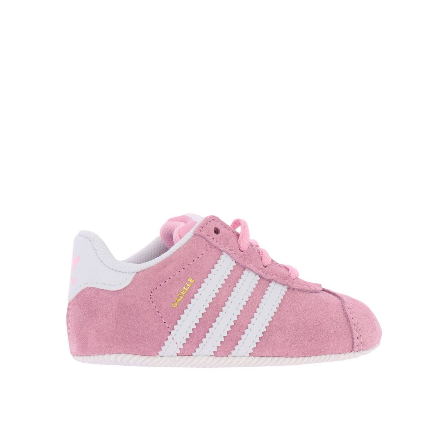 Shoes Adidas Originals: Gazelle Crib Adidas Originals Classic sneakers in suede and smooth leather pink 1